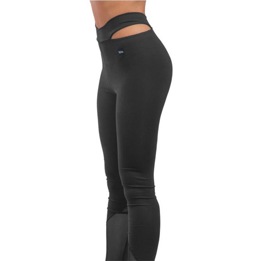 Γυναικείο Αθλητικό Κολάν Dry Fit Μαύρο Με Διαφάνεια