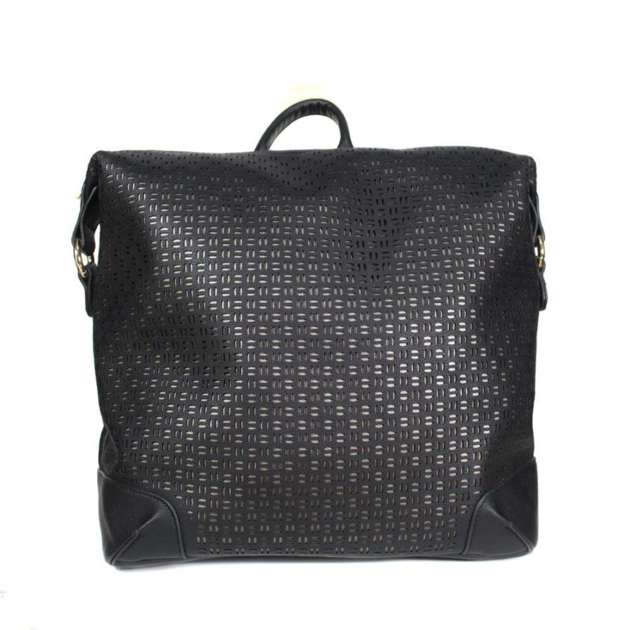 Γυναικεία Τσάντα Backpack Μαύρη Διάτρητη