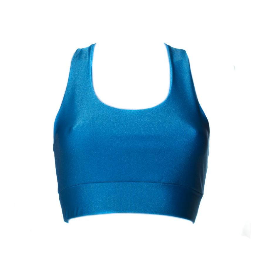 Γυναικείο Μπουστάκι Γυαλιστερό Μπλε