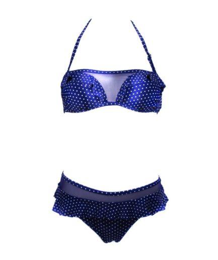 cante.gr Γυναικείο Μαγιό Μπικίνι Με Διαφάνεια Μπλε