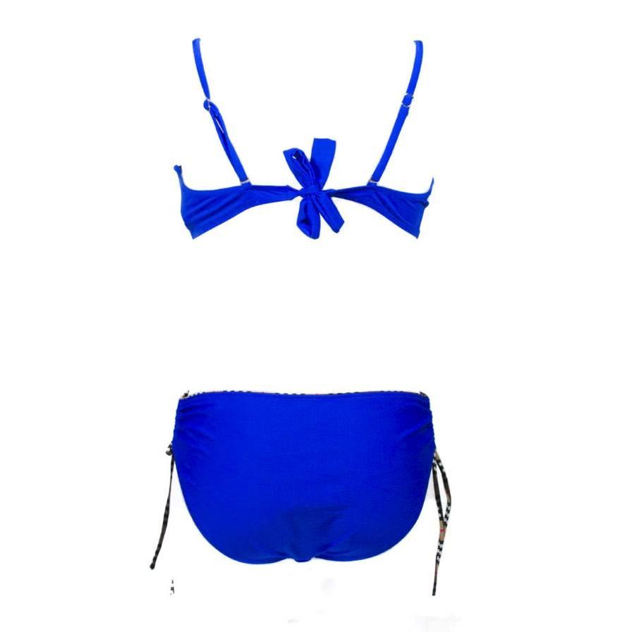 cante.gr Γυναικείο Μαγιό Μπικίνι Με Καρό Μπλε