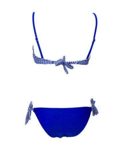 cante.gr Γυναικείο Μαγιό Μπικίνι Με Αγκράφα Μπλε Ρουά
