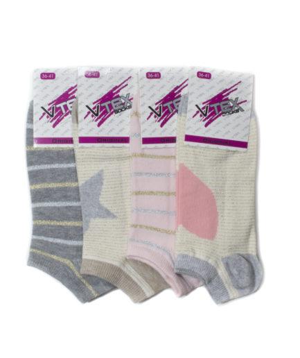 Σετ 4 Γυναικείες Κάλτσες Σοσόνι Με Ιριδίζον Σχέδιο