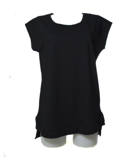 Γυναικεία Μπλούζα Ασύμμετρη Μαύρο