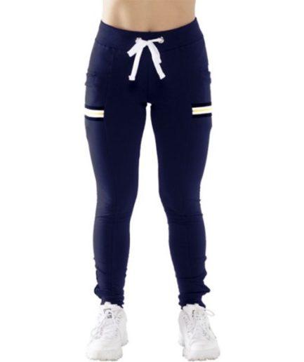Γυναικείο Παντελόνι Φούτερ Με Φάσα Μπλε - Cante.gr
