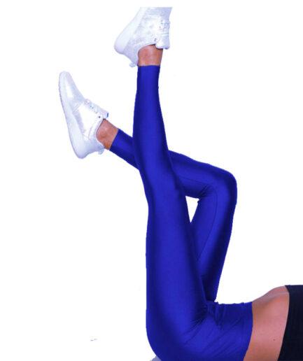 Γυναικείο Κολάν Γυαλιστερό Μπλε Ρουα