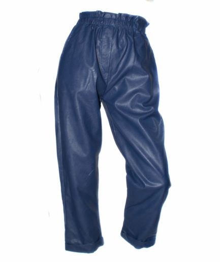 Γυναικείο Παντελόνι Δερματίνη Μπλε