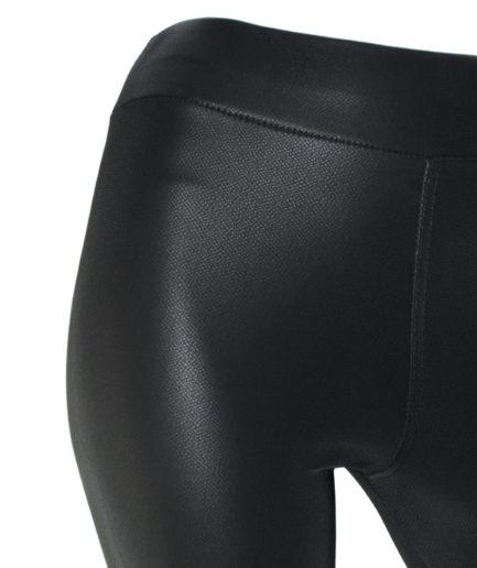 Γυναικείο Κολάν Δερματίνη Με Σχέδιο Μαύρο