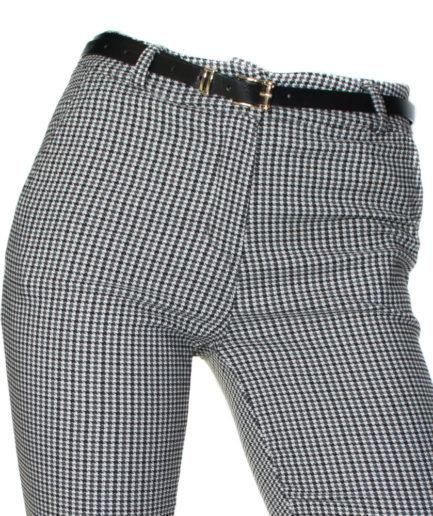 Γυναικείο Παντελόνι Με Ζώνη Καρό