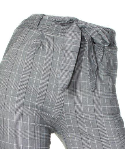 Γυναικείο Παντελόνι PaperBag Καρό