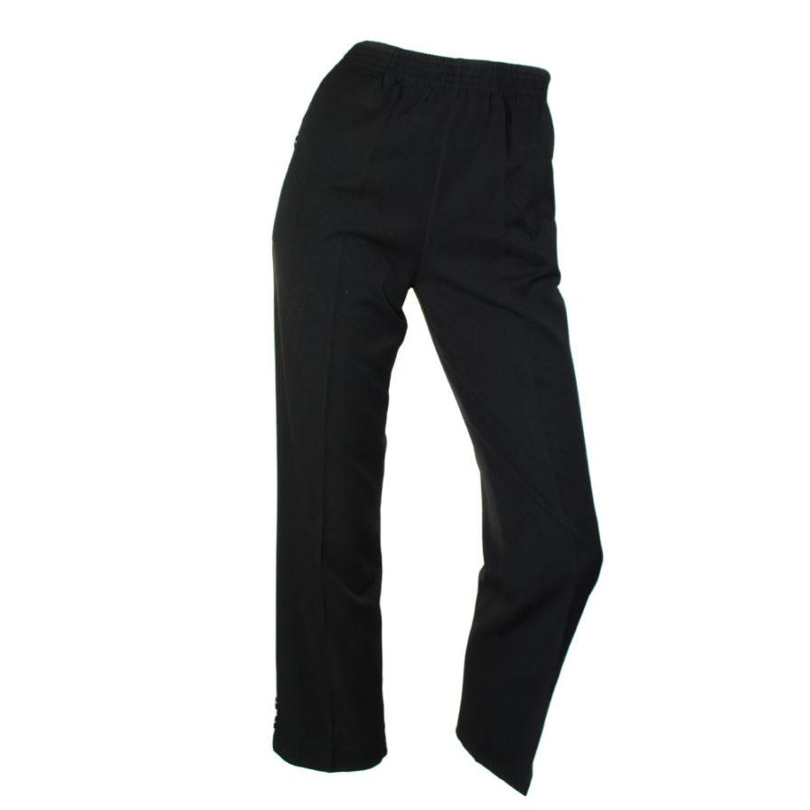 Γυναικείο Παντελόνι Με Κουμπί Μαύρο
