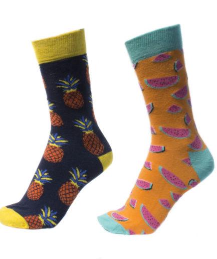 Σετ Ανδρικές Κάλτσες Ψηλές Με Ανανάδες - Καρπούζια