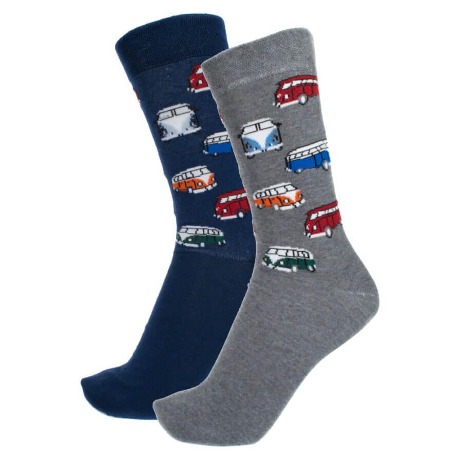 Σετ Ανδρικές Κάλτσες Ψηλές Με Λεωφορεία