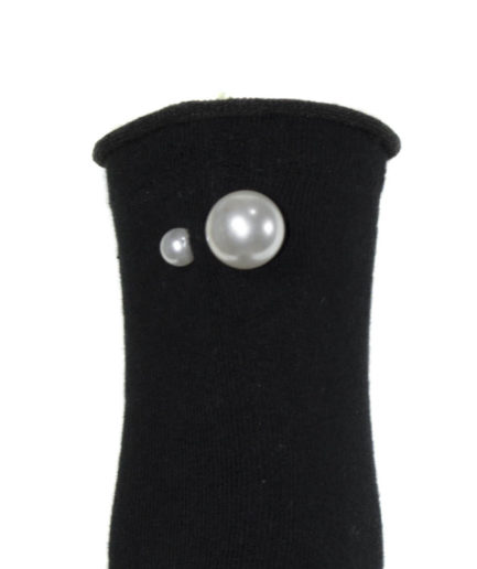 Γυναικείες Κοντές Κάλτσες Με Πέρλες Μαύρες - Cante.gr