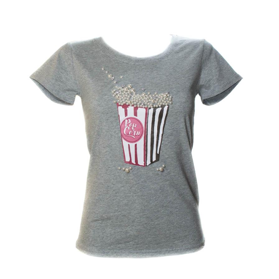 Γυναικείο T-Shirt PopCorn Γκρι