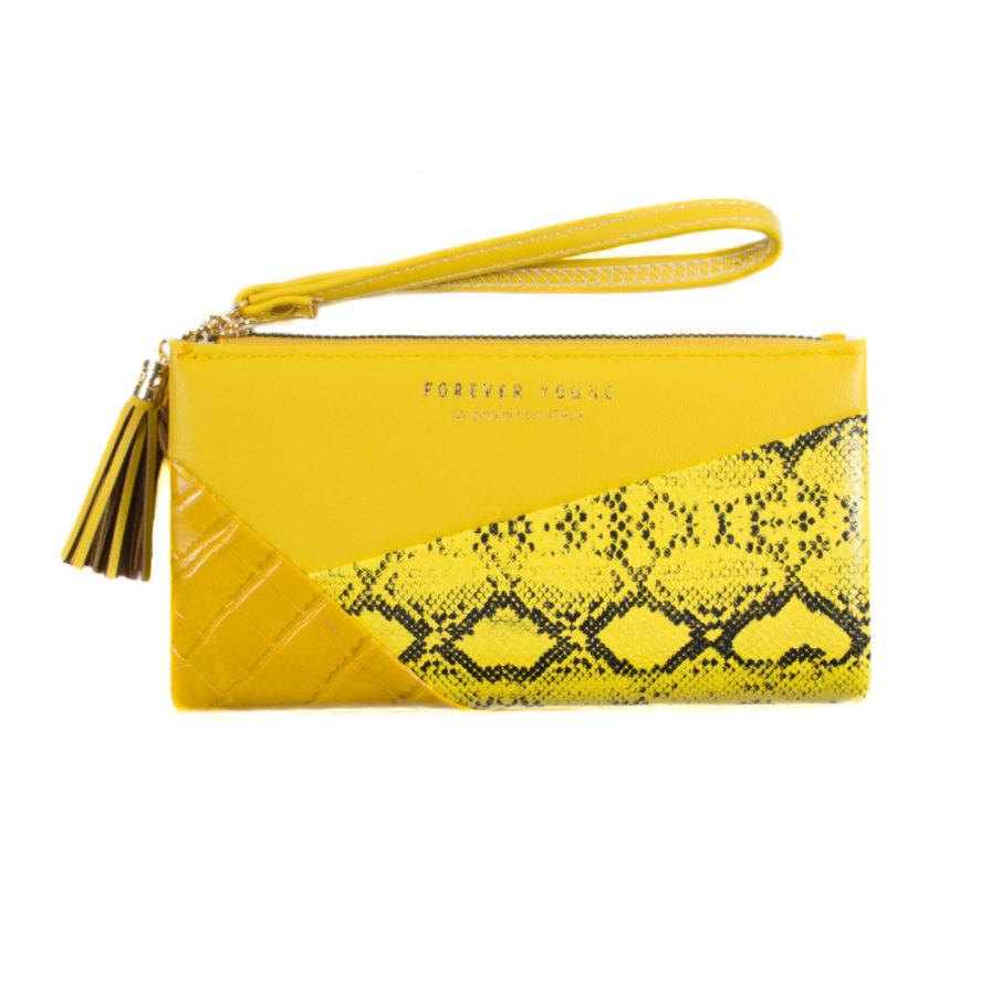 Γυναικείο Πορτοφόλι Κίτρινο Με Σχέδιο - Γυναικεία Πορτοφόλια