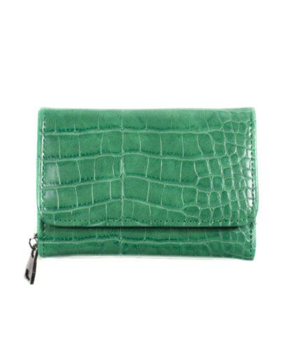 Γυναικείο Πορτοφόλι Κροκό Πράσινο