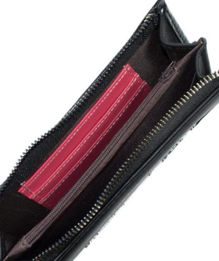 Γυναικείο Πορτοφόλι Μαύρο Με Σχέδιο - Γυναικεία Πορτοφόλια
