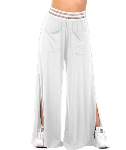 Γυναικεία Παντελόνα Βισκόζυ Άσπρη