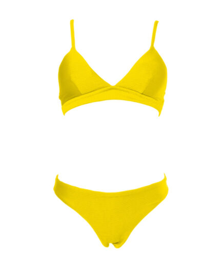Γυναικείο Μαγιό Μπικίνι Κίτρινο Σετ - Cante.gr