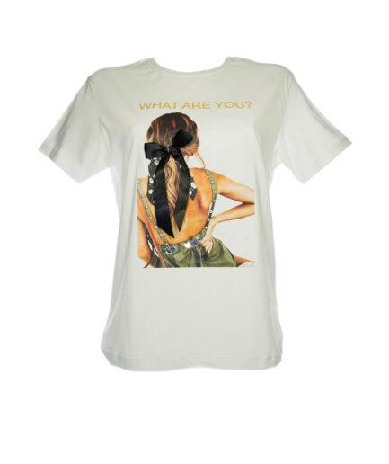 Γυναικείο T-Shirt Με Σχέδιο 3D Άσπρο - Cante.gr