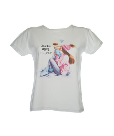 Γυναικείο T-Shirt Mum Άσπρο - Cante.gr