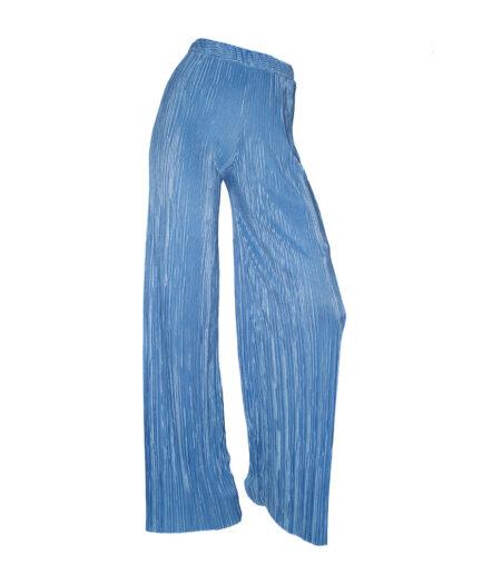 Γυναικείο Παντελόνα Πλισέ Γαλάζια - Cante.gr