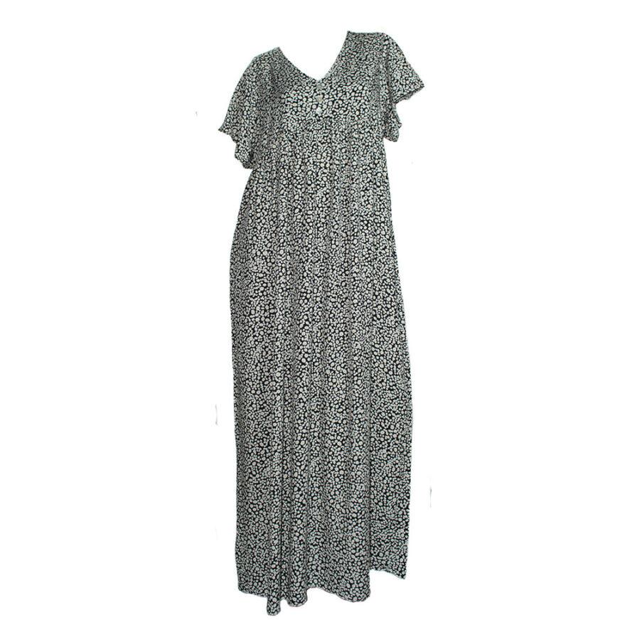 Γυναικείο Φόρεμα Φλοράλ Μαύρο - Cante.gr