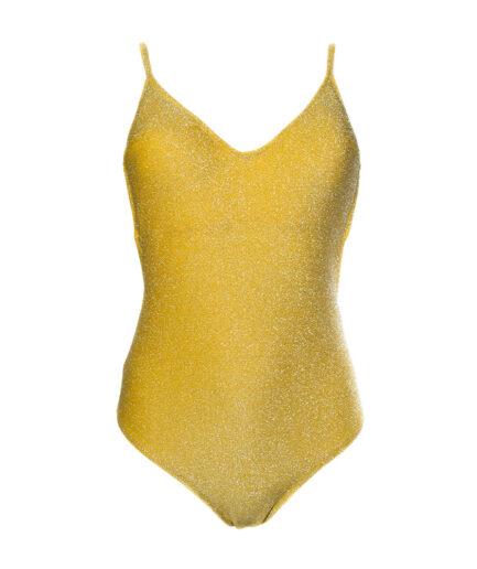 Γυναικείο Ολόσωμο Μαγιό Κίτρινο Lurex - Cante.gr