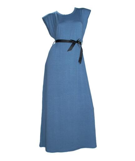 Γυναικείο Φόρεμα Με Βάτες Μπλε Ραφ - Cante.gr