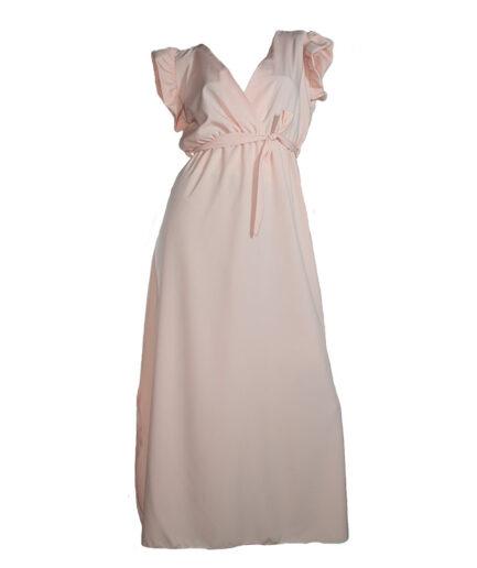 Γυναικείο Φόρεμα Midi Ροζ - Cante.gr