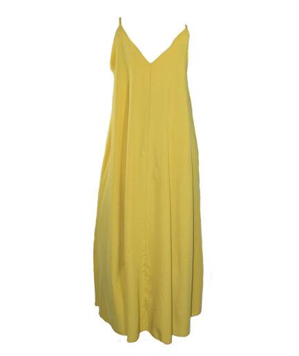 Γυναικείο Φόρεμα Τιραντέ Oversized Κίτρινο - Cante.gr