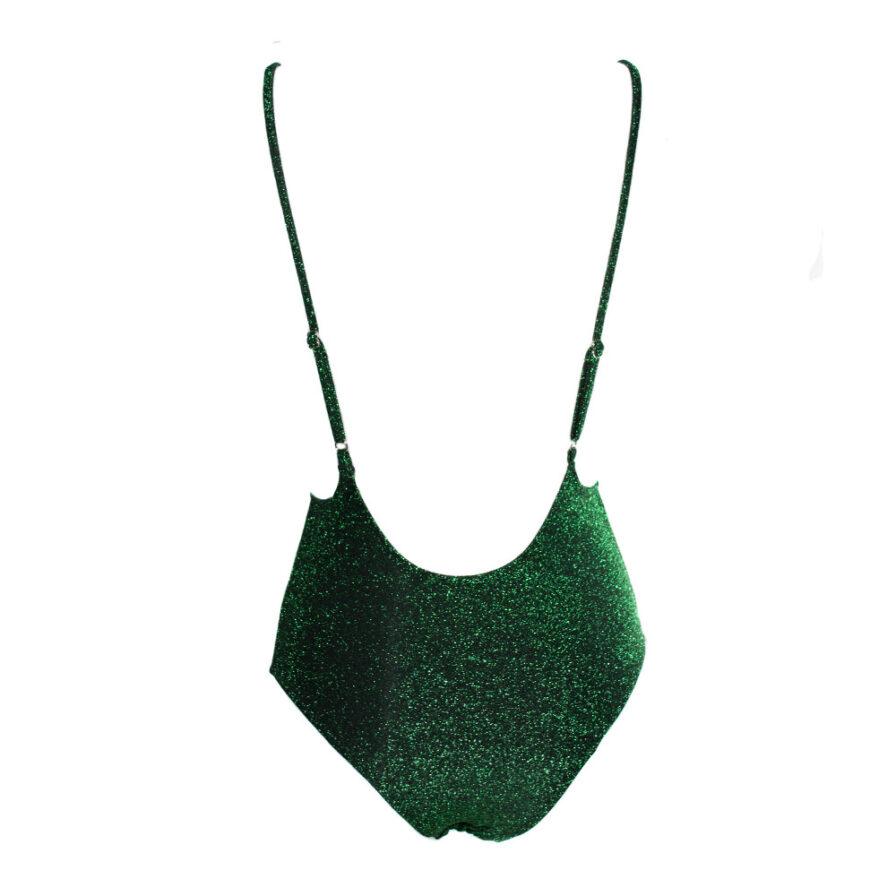 Γυναικείο Ολόσωμο Μαγιό Πράσινο Lurex - Cante.gr