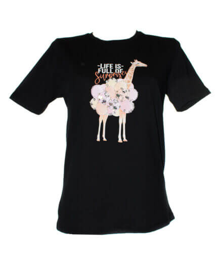 Γυναικείο T-Shirt Με Καμηλοπάρδαλη - Cante.gr