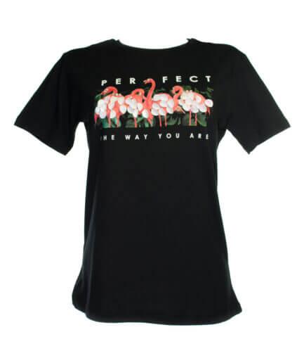 Γυναικείο T-Shirt Φλαμίνγκο Με Παγιέτες - Cante.gr