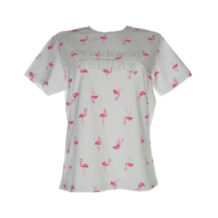 Γυναικείο T-Shirt 3D Με Φλαμίνγκο - Cante.gr