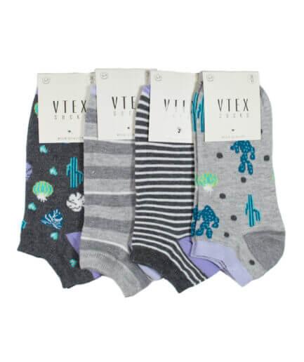 Σετ Γυναικείες Κάλτσες Σοσόνι Με Κάκτους - Cante.gr