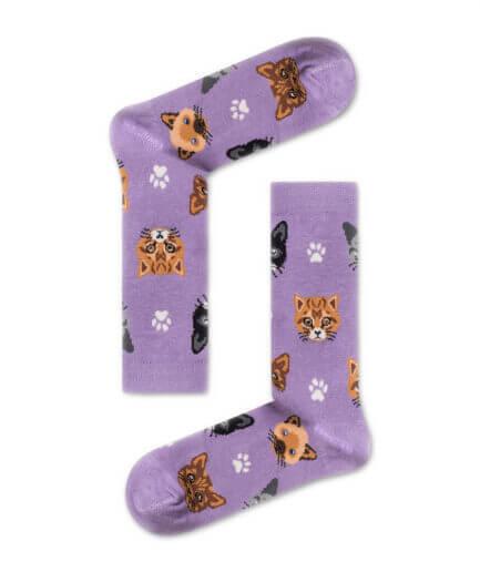 Unisex Κάλτσες Ψηλές Με Γάτες - Cante.gr