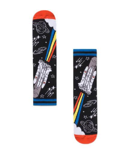 Unisex Κάλτσες Ψηλές Με Διαστημόπλοιο - Cante.gr
