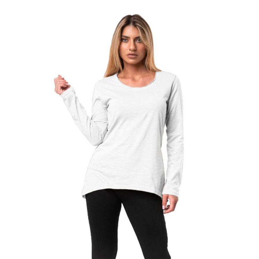 Γυναικεία Μπλούζα Μακρυμάνικη Άσπρη - Cante.gr