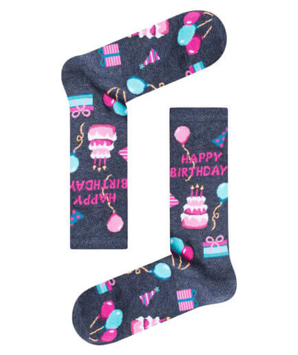 Unisex Κάλτσες Ψηλές Happy Birthday - Cante.gr