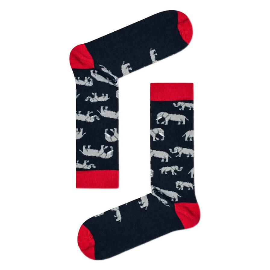 Ανδρικές Κάλτσες Ψηλές Με Ελέφαντες - Cante.gr