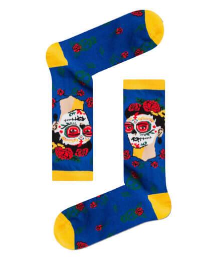 Unisex Κάλτσες Ψηλές Sugar Skull Frida Kahlo - Cante.gr