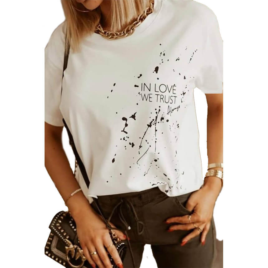 Γυναικείο T-Shirt In Love Άσπρο - Cante.gr