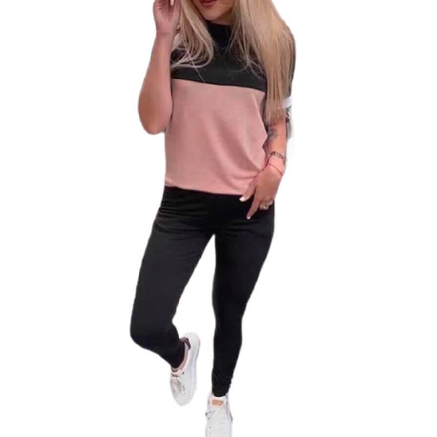 Γυναικείο Σετ Δίχρωμο Ροζ/Μαύρο - Cante.gr