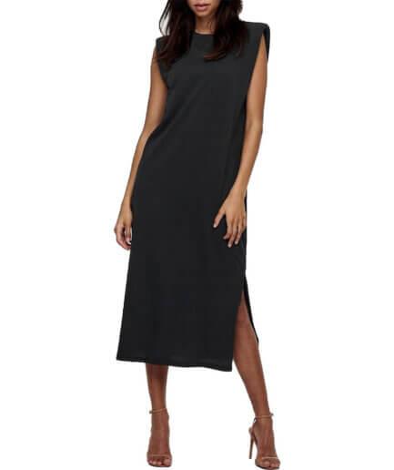 Γυναικείο Φόρεμα Με Βάτες Μαύρο - Cante.gr