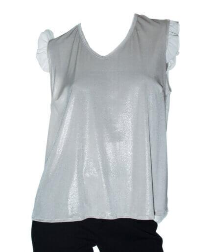 Γυναικεία Μπλούζα Με Φραμπαλά Μπεζ - Cante.gr