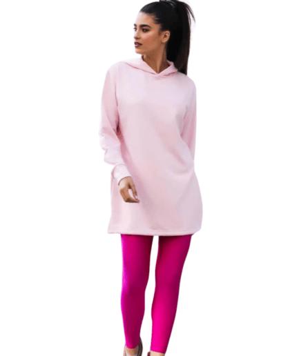 Γυναικείο Φούτερ Oversized Ροζ - Cante.gr