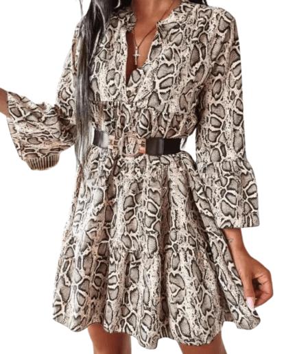 Γυναικείο Φόρεμα Mini Snake Print - Cante.gr