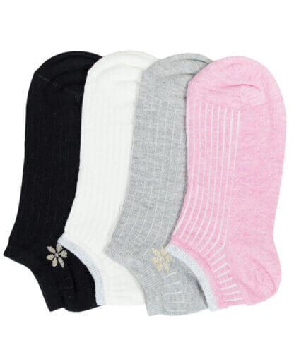 Σετ Γυναικείες Κάλτσες Σοσόνι Με Λουλούδι - Cante.gr